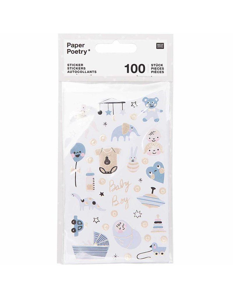 Paper Poetry 100x Paper Poetry Sticker Baby Boy