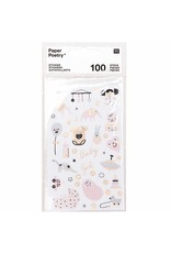 Paper Poetry 100x Paper Poetry Sticker Baby Girl