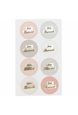 Paper Poetry 32x Paper Poetry Sticker Just Married Rund