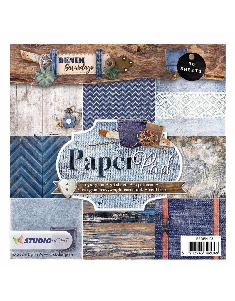 Studiolight Paper Pad  6x6 Denim Saturdays 103