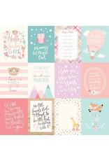 Echo Park Hello Baby Girl Cardstock 12x12   3x4 Journaling Cards