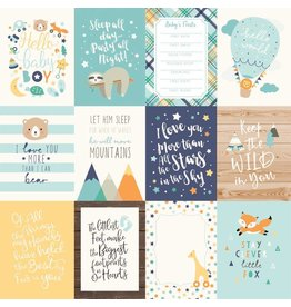 Echo Park Hello Baby Boy Cardstock 12x12  3x4 Journaling Cards