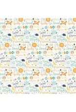 Echo Park Hello Baby Boy Cardstock 12x12  Words