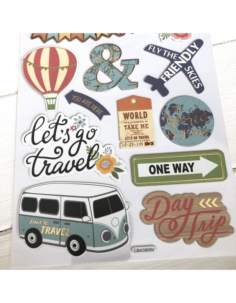 Softy Sticker Let`s go travel