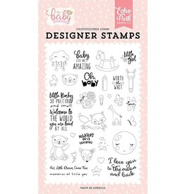 Echo Park Hello Little Baby Girl - Clearstamp Set
