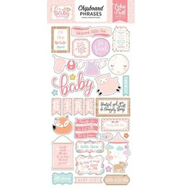 Echo Park Hello Baby Girl Chipboard Phrases