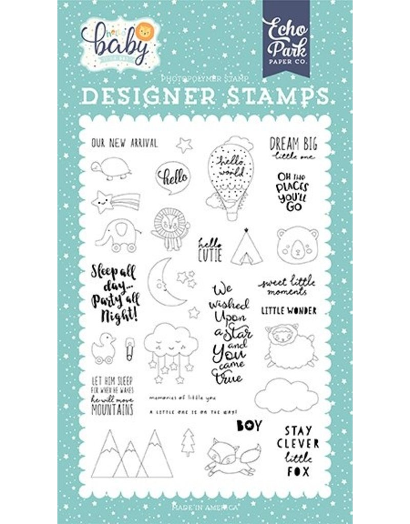 Echo Park Hello Little Baby Boy New Arrival- Clearstamp Set
