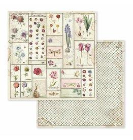 Stamperia Spring Botanic Herbarium 12x12 Inch Paper Sheet