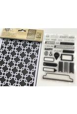 Stempel & Stencil Set Interlock Squares
