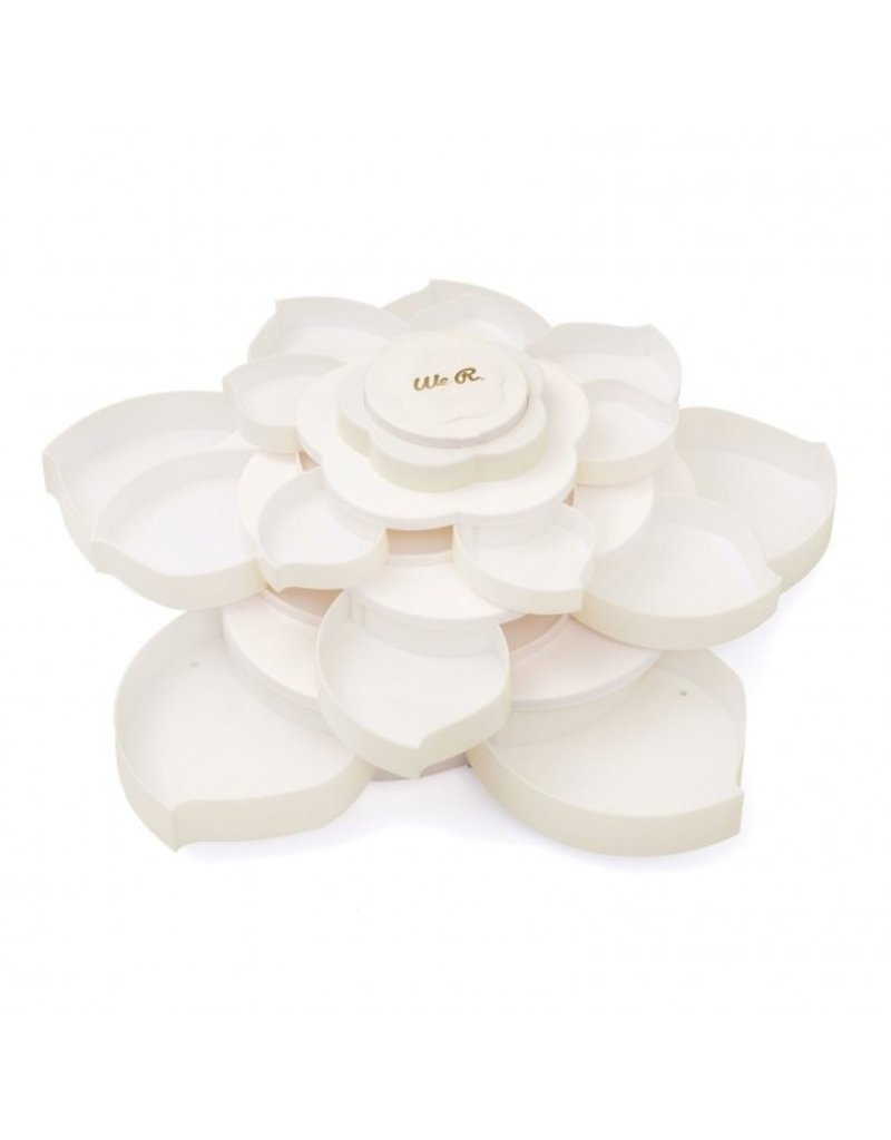 We R Memory Keepers Embellishment storage bloom White