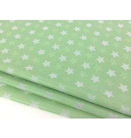 10 Blatt Seidenpapier   ♥ Sterne Mintgrün ♥