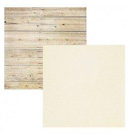 Simple Stories White Wood / Grid Cardstock 12x12