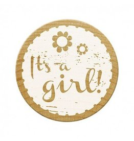 Woodies Woodies Holzstempel  It`s a girl !