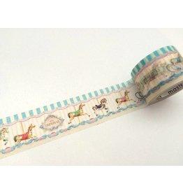 Maste Washi Masking Tape Merry Go Round 25mm x 7m
