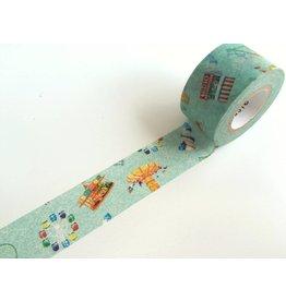 Maste Washi Masking Tape Amusement park 20mm x 7m