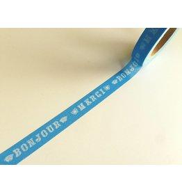 Maste Washi Masking Tape  Bonjour Blue 10mm x 10m