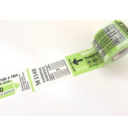 Maste Washi Masking Tape Travel Ticket 25mm x 7m