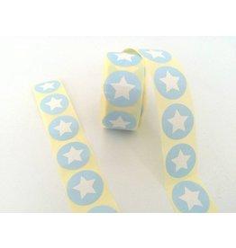10 Aufkleber  Stern  Hellblau