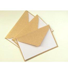 3x kleine Klappkarten + Kraftpapier Umschläge