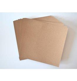 10 große Kraftpapierkarten 20,3x20,3cm Öko