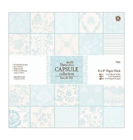 Papermania 32x Scrapbooking Design Papier Set Mint 8x8 Inch