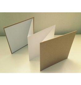 Kraftpapier Blanko Leporello 13x13m
