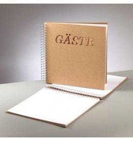 Kraftpapier Blanko  Gästebuch 30 x 30cm