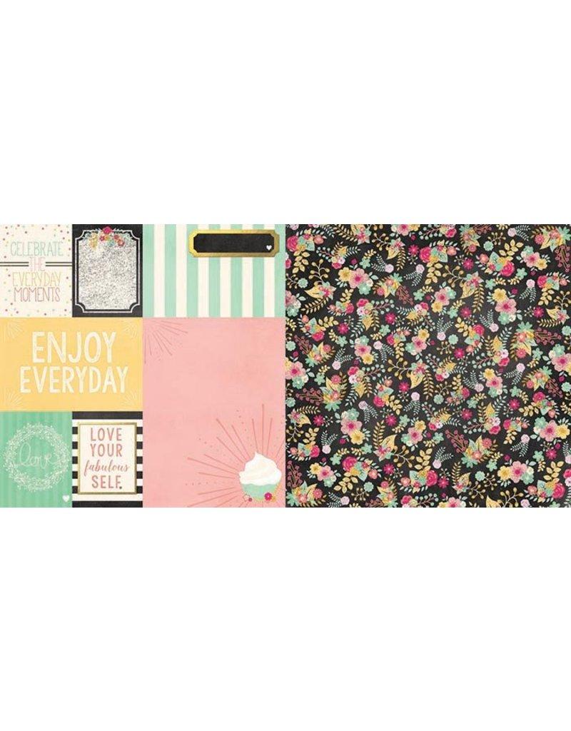 Bo Bunny Soiree Paper  You`re Invited  12x12 Cardstock
