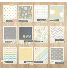 """Simple Stories Hello Baby Tiny Details Cardstock Bogen 12x12"""""""