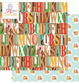 Websters  Pages S is for School Cardstock 12x12 Webster`s Pages