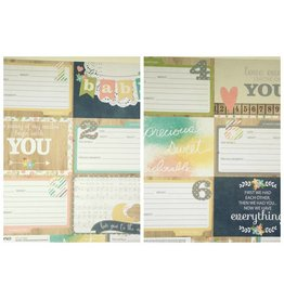 Simple Stories Hello Baby - 4x6 Horizontal Journaling Cards 1