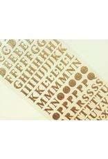 Alphabet Gold Glitzer Sticker