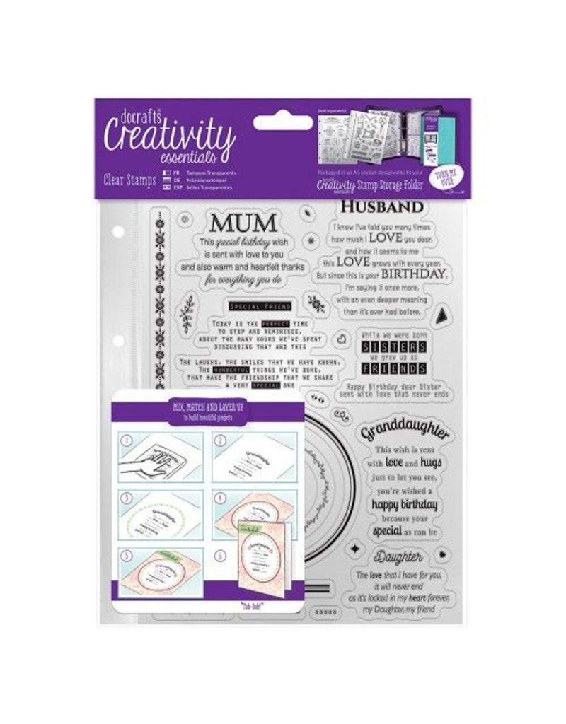 Clear Stamps Sets   Verses   A5 30tlg.