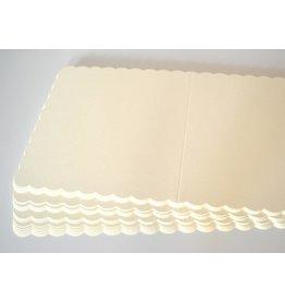 10x Klappkarten quadratisch 12,5x12,5cm Ivory