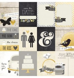 Simple Stories The Story Of Us Elements 3x4 Cardstock Bogen 12x12