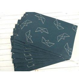 10x Papiertüten Origami Boat 12x19cm