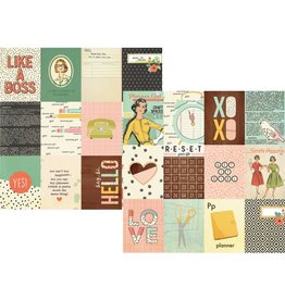 Simple Stories The Reset Girl 3x4 Journaling Card Elements 12x12