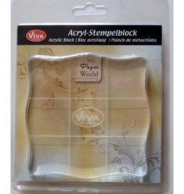Acryl-Stempelblock  10x10cm Viva Decor