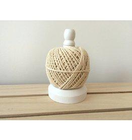 Weiß Holzspule + Kordel