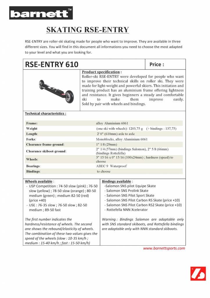 RSE-530 Ski roues initiation NOIR