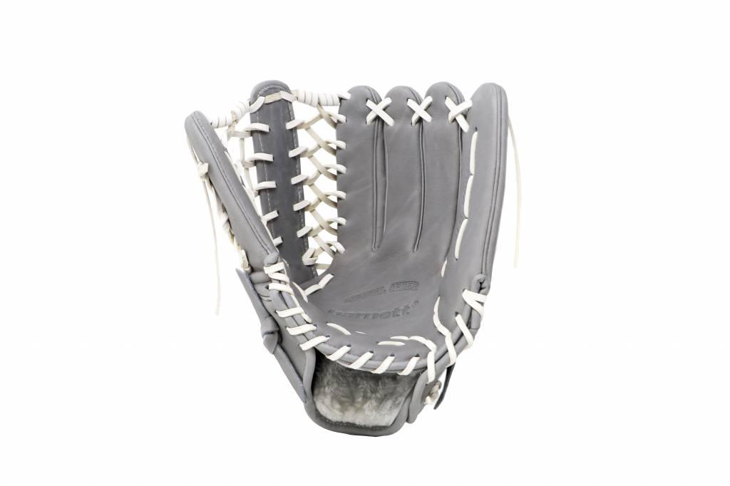 "FL-127"" gant de baseball cuir haute qualité infield/outfield/pitcher, gris clair"