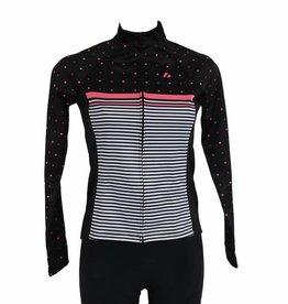 - Textile Vélo - Veste manches longues, coupe-vent NOIRE ET ROSE