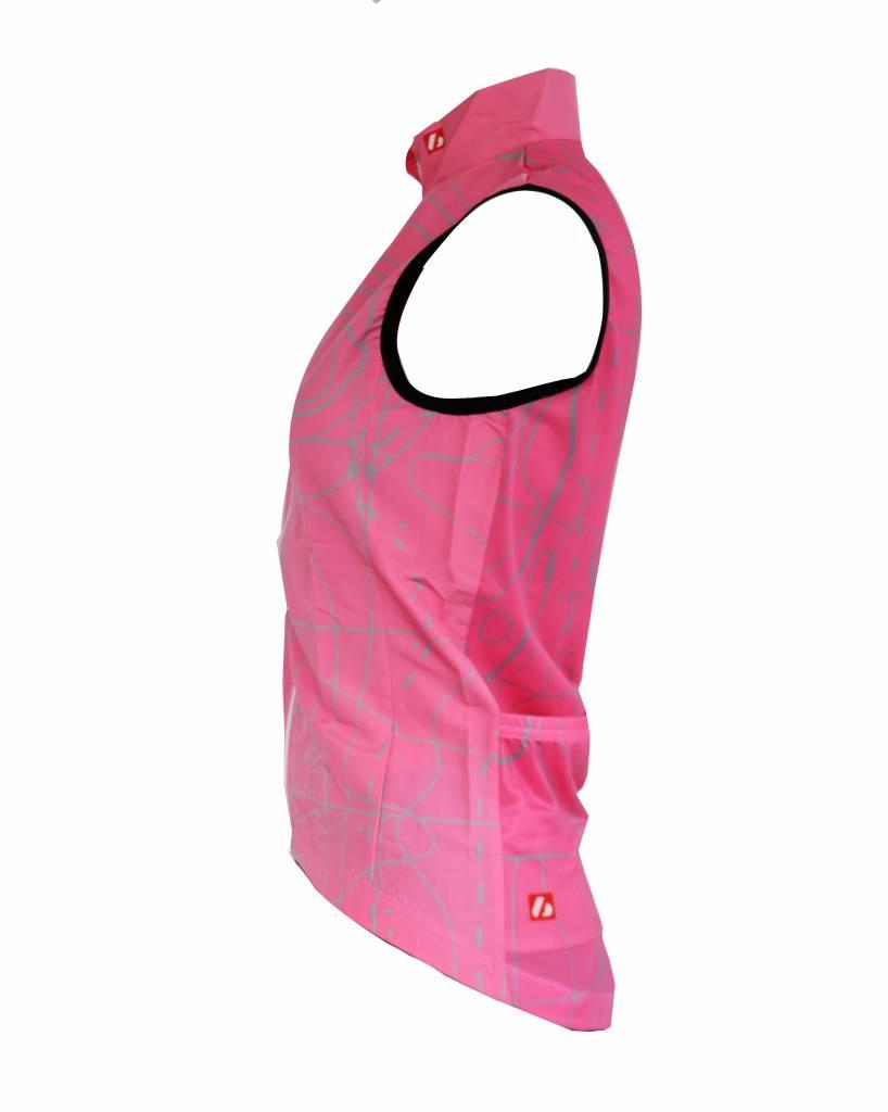 Textile Vélo - Gilet coupe-vent sans manches rose