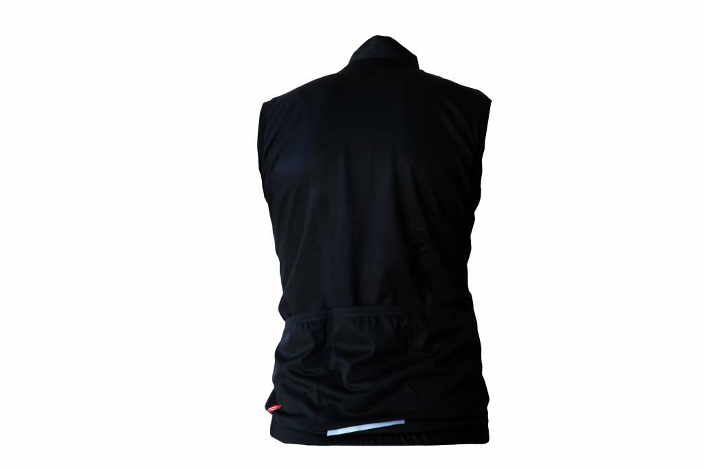 Textile Vélo - Gilet coupe-vent sans manches noir et blanc