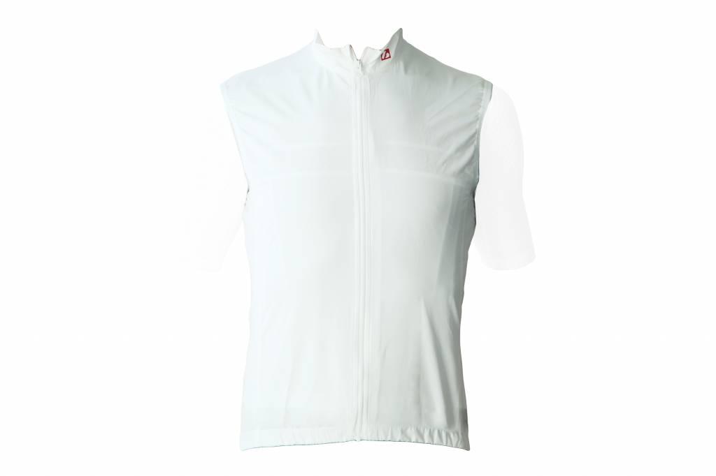 Textile Vélo - Gilet coupe-vent sans manches blanc