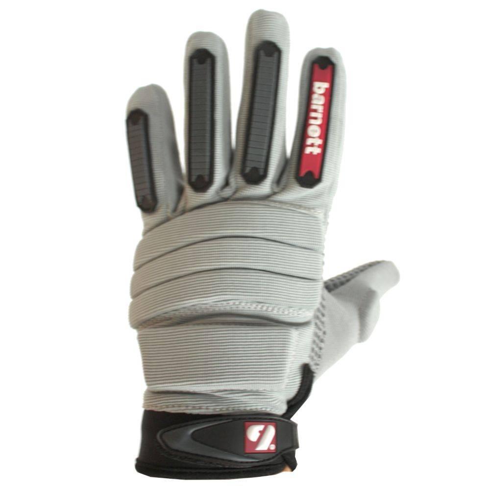FLG-02 gants de football américain de linemen, OL,DL, Gris
