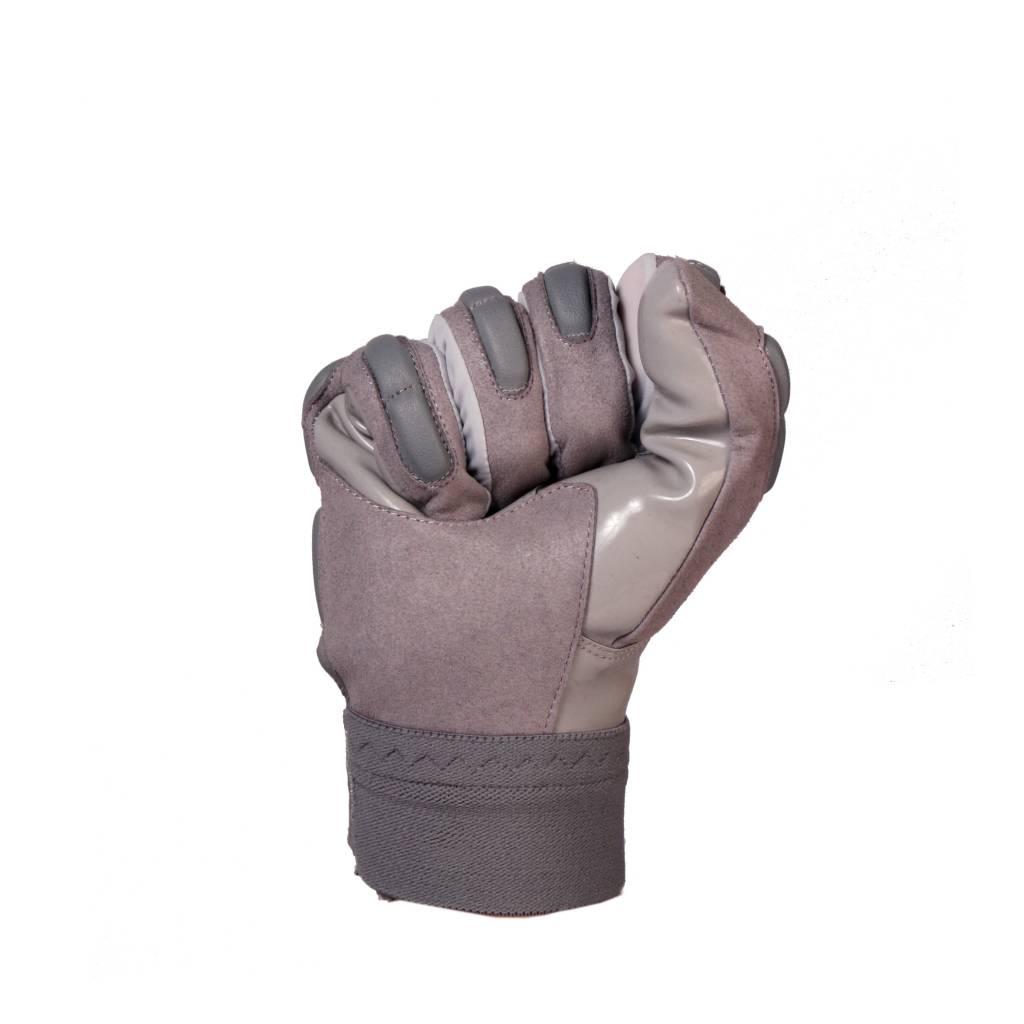 FKG-03 gants de football américain de linebacker pro, LB,RB,TE Gris