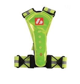 LW-1 Veste Fluo avec LED et bandes réfléchissantes (ski – running – rollerski – bike)