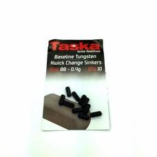 Taska baseline tungsten kwick change sinkers | bb - 0,4g | 10 pcs