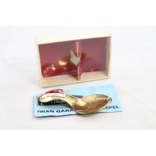 Vintage Albatros flat fish spool + box